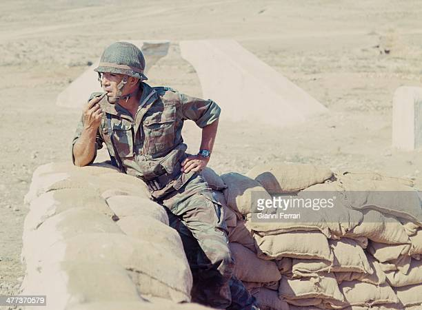 The American actor Anthony Quinn during the filming of 'The Centurions' 22nd December 1965 Almeria Andalusia Spain