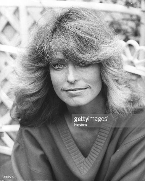 The American actress and star of 'Charlie's Angels' Farrah Fawcett on a visit to London