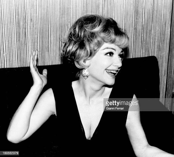 The American actress Anne Baxter in Madridi Madrid Spain