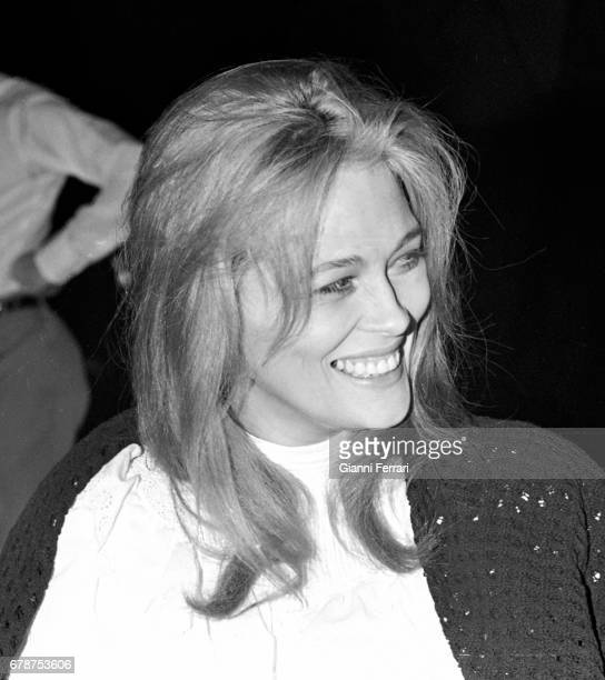 The American actress Faye Dunaway during the filming of the movie 'The light of the end of the world ' Cadaques Girona Spain