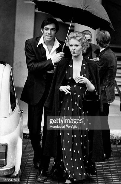 The American actress Jean Seberg and the Italian actor Fabio Testi acting in 'Gang War in Naples' Naples 1972