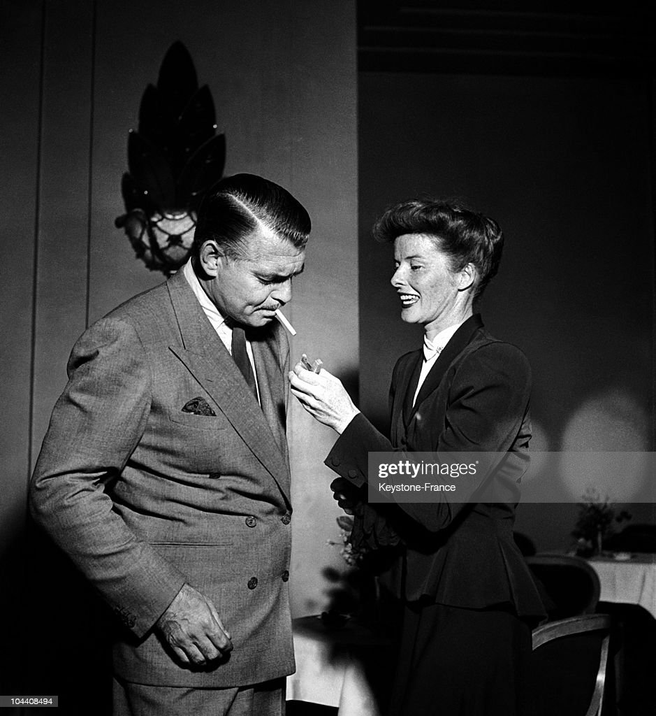 Clark Gable And Katharine Hepburn In Paris In 1948 : News Photo