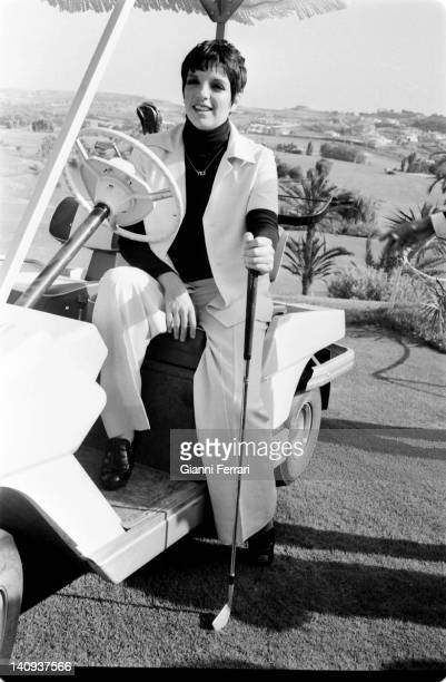 The american actress Liza Minelli Madrid Spain