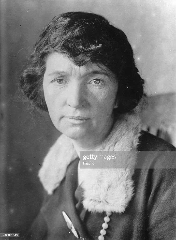 The American advocate for birth control Margaret Sanger. About 1930. Photograph.