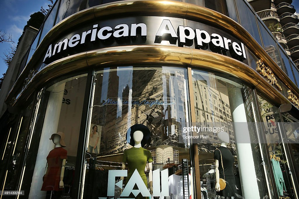 American Apparel Files For Bankruptcy Protection : News Photo
