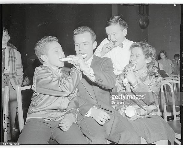 The American Broadcasting Company in cooperation with the Police Athletic League staged on of the largest Christmas parties ever held for youngsters...