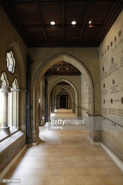 The American cathedral of the Holy Trinity, Paris. Cloister. France.