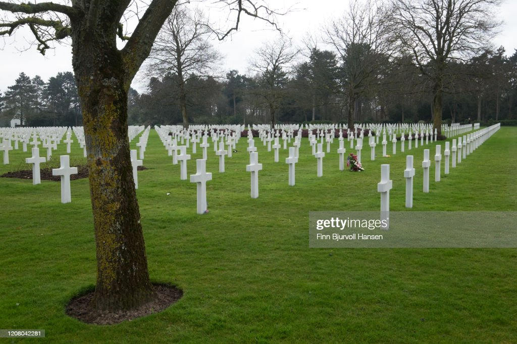 The American cemetery at Omaha Beach, Normany France. : Stock Photo