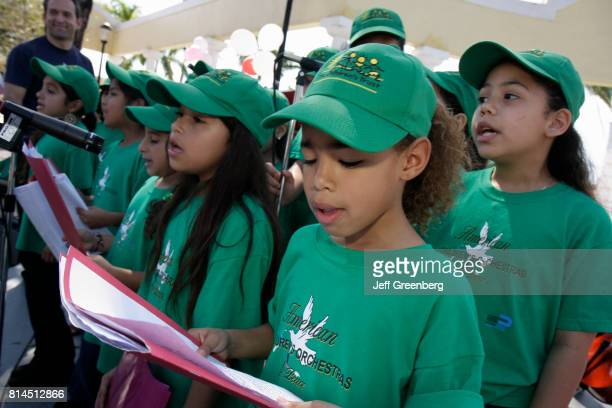 The American Children's Orchestra for Peace singing at the United Hearts Family Festival