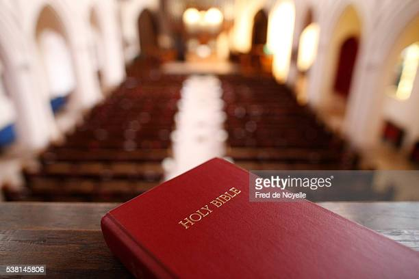 the american church in paris. holy bible. - protestantism stock pictures, royalty-free photos & images