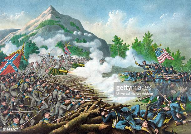 The American Civil war The Battle of Kenesaw Mountain in 1864 It was the biggest frontal assault launch started by the Union against the Confederate...