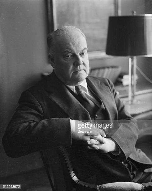 The American critic and writer, Edmund Wilson is shown here. He was an influential critic and writer on contemporary literature and politics.