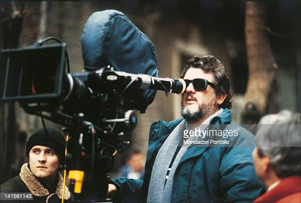 The American director Walter Hill shooting a scene from the action film 'Red heat' USA 1988