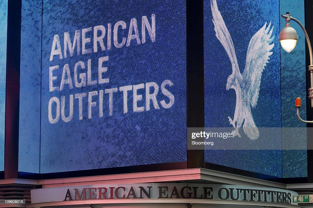 The American Eagle Outfitters Inc Logo Is Displayed Over Companys Store In Times Square