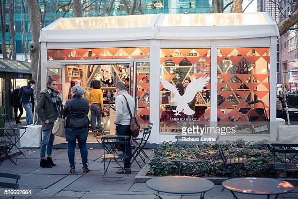 The American Eagle Outfitters popup shop is nestled in Bryant Park in New York seen on Friday November 20 2015 American Eagle Outfitters reported an...