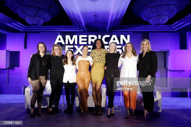 The American Express Executive Committee Women with Alicia Keys and Venus Williams at the American Express Global Women's Conference Unveiling The...