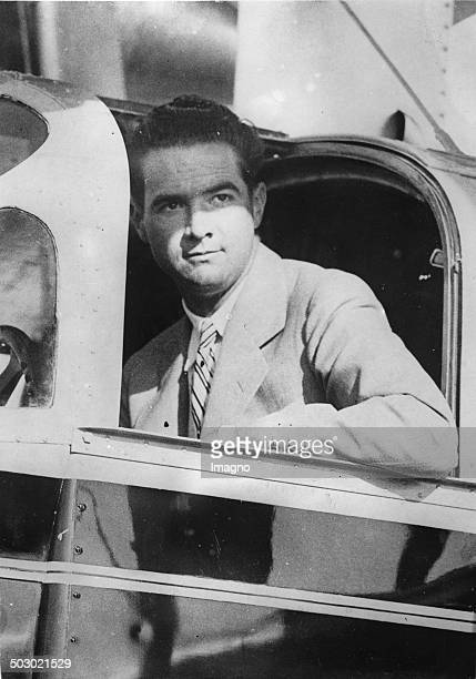 The American film producer and record flight pilot Howard Hughes About 1930 Photograph