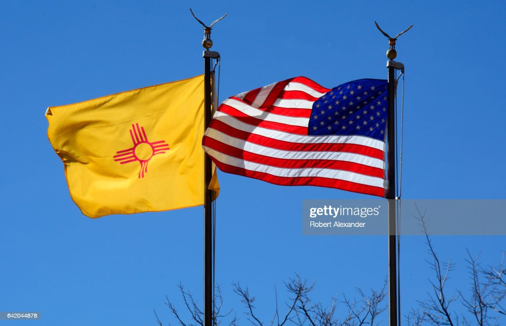 The American Flag And State Of New Mexico Flag Fly Side By Side At News Photo Getty Images