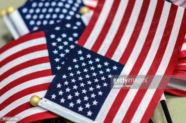 the american flag on display - citizenship stock pictures, royalty-free photos & images