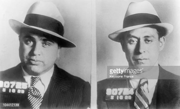 The American gangster Al CAPONE and one of his lieutenants Frankie RIO after their arrest in Chicago in 1930 Al CAPONE became one of the masters of...