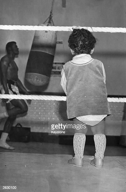 The American heavyweight boxer Muhammad Ali during his final workout for his world title fight against Brian London Although the public were barred...