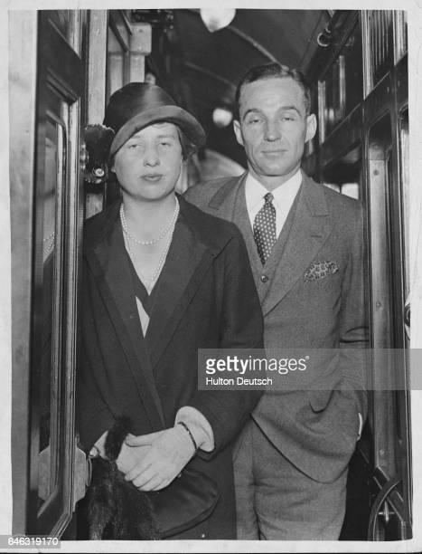 The American industrialist and automobile manufacturer Edsel Bryant Ford son of Henry Ford probably with his wife ca 1935