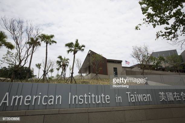 The American Institute in Taiwan's new complex stands in Taipei Taiwan on Tuesday June 12 2018 The American Institute in Taiwan's new building...