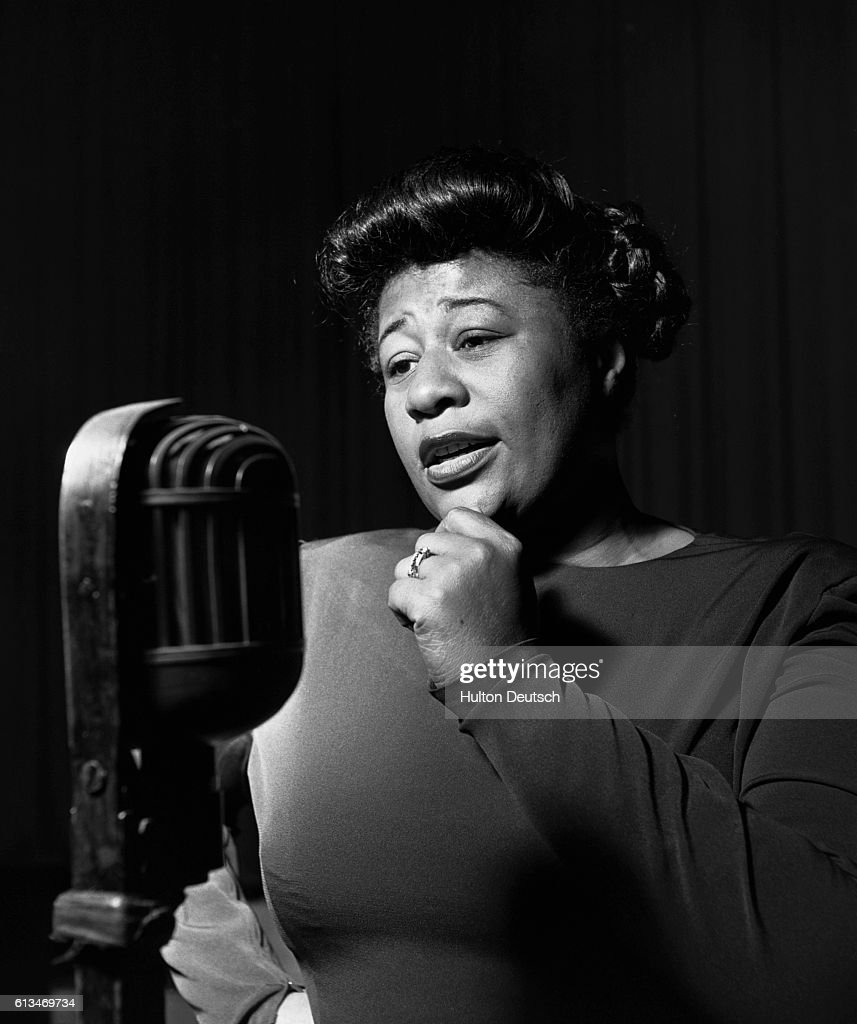 The American jazz singer Ella Fitzgerald (b. 1918). She is well known for her interpretation of the works of George Gershwin and Duke Ellington.