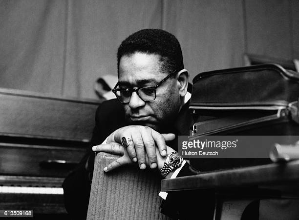 The American jazz trumpeter and bandleader Dizzy Gillespie looking pensive during his 1960 British tour