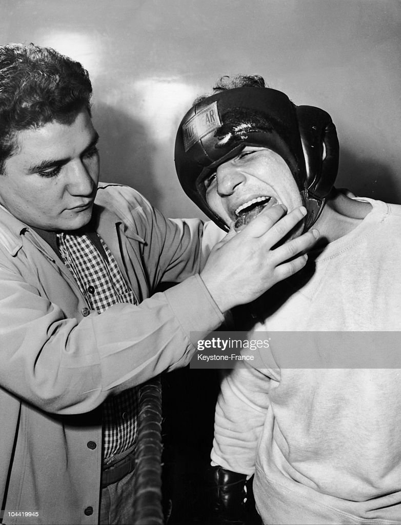 The American Middle-Weight Boxer Jake Lamotta Before A Fight In The 1950'S.
