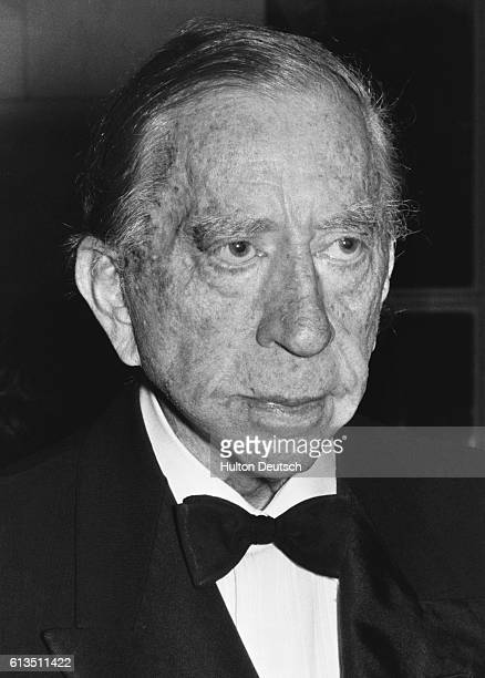 The American oil executive multimilionaire and art collector Jean Paul Getty I ca 1972