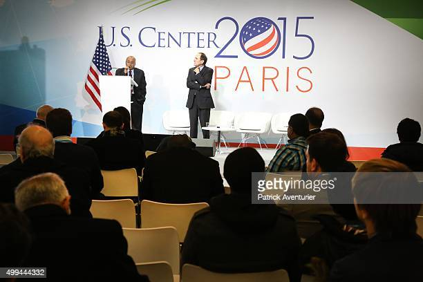 The American pavillon at COP21 on December 1 2015 in Paris FranceThe COP21 summit will see negotiators from 195 countries try to finalise a new...