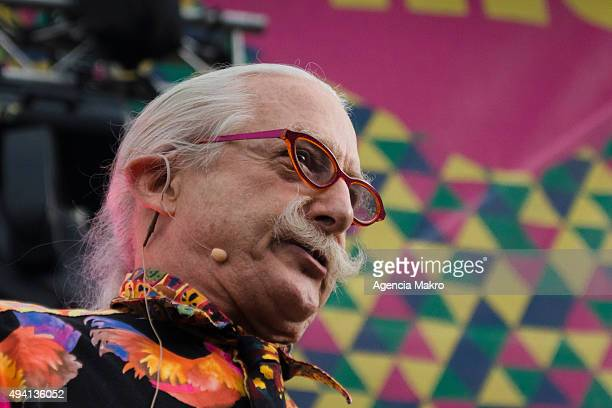 The American physician social activist clown and author Hunter Doherty Patch Adams attends a conference as part of the International Festival of...