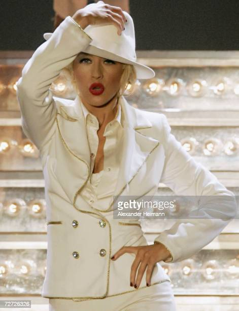 The American popstar Christina Aguilera sings during her first stop of her german tour in the german concert hall Festhalle on December 5 2006 in...