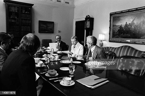 PAPER 'The American Presidency' Pictured Advisor and Chairman of the Council on Wage and Price Stability Alfred E Kahn President of the United States...