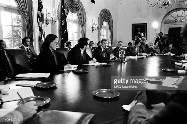 PAPER The American Presidency Pictured President of the United States Jimmy Carter during a Cabinet meeting to discuss energy the Alaskan lands issue...