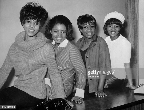 The American quartet Patti LaBelle and the Bluebelles in London this week for television and club appearances The ladies are Nona Hendryx Sarah Dash...