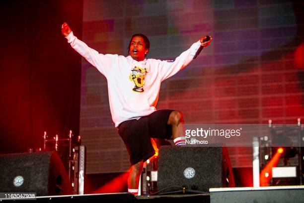 The american rapper A$AP Rocky performing live at Lowlands Festival 2019 on 18 August 2019 in Biddinghuizen Netherlands