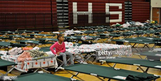CONTENT] The American Red Cross Shelter set up at Whitman High School in Huntington Station NY just two days after Hurricane Sandy struck Long Island...