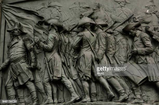 The American Revolutionary War The Washington Monument Sculpted by Rudolf Siemering Detail Philadelphia Pennsylvania USA