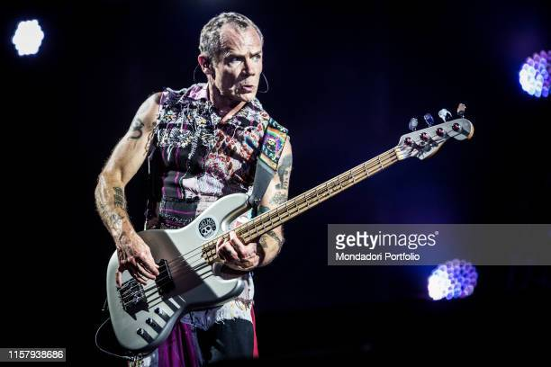 The American rock band Red Hot Chili Peppers in concert at the San Siro racecourse. Milan, July 21, 2017