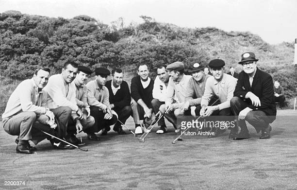 The American Ryder Cup team in Scotland 6th October 1965 From left to right they are team captain Byron Nelson Tommy Jacobs Billy Casper Don January...