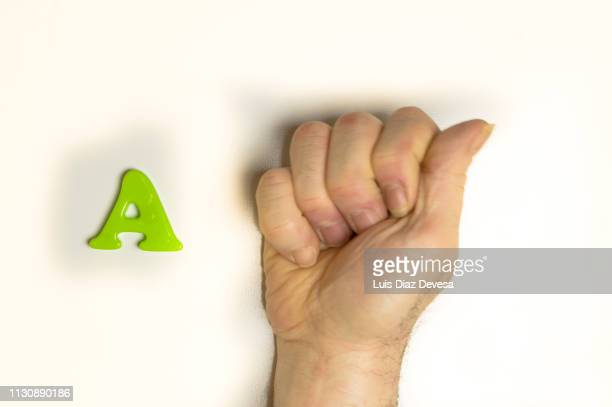The American Sign Language for the letter A.