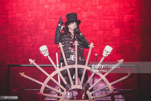 The American singer and rock n roll icon Alice Cooper performs live at the Pala Alpitour in Torino for his Ol' Black Eyes is Back Tour.