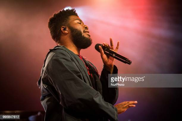 The american singer and song-writer Khalid performing live at Circolo Magnolia Segrate, Milan, Italy on July 10, 2018.