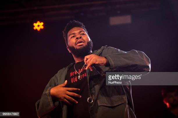 The american singer and songwriter Khalid performing live at Circolo Magnolia Segrate Milan Italy on July 10 2018