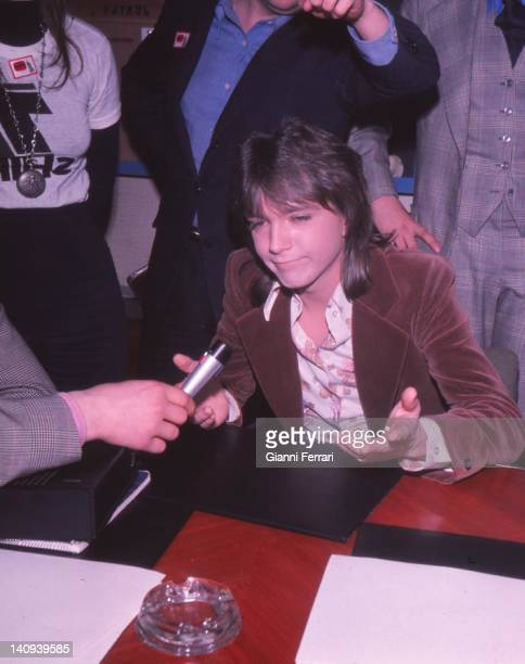 The American singer David Cassidy during an interview Madrid Spain