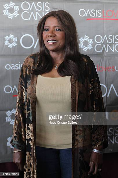 The American singer Gloria Gaynor popularly known as the queen of disco and soul held a press conference at the Grand Oasis Cancun hotel where she is...