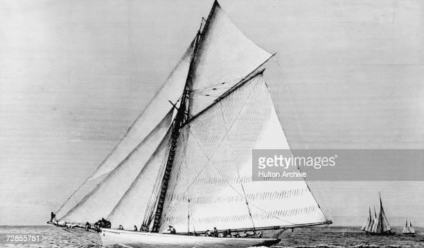 The American sloop Volunteer winner of the seventh America's Cup sailing race 1887