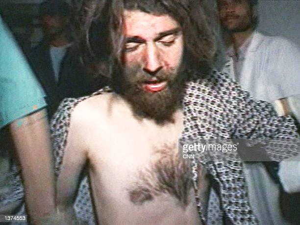 The American Taliban soldier John WalkerLindh is treated at an Army hospital on December 2 2001 in Sheberghan Afghanistan In a deal with prosecutors...